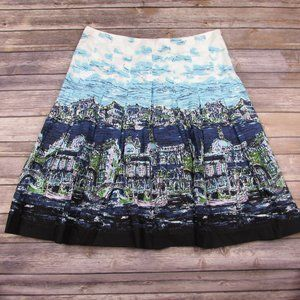 Talbots Pleated Venice Skirt Fit And Flare 10 Pet